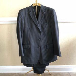 Jos. A. Bank Stripe Suit Jacket w/ Suit Pants 41L